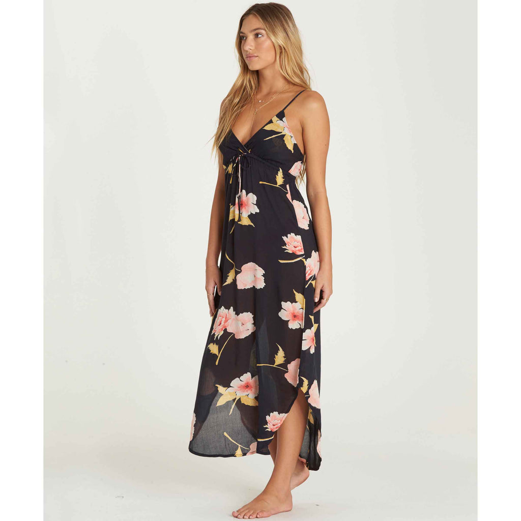 Billabong Women's Like Minded Midi Dress | Black, Peaches