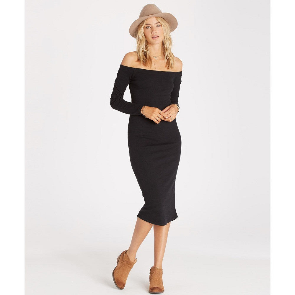 Billabong Help Myself Midi Dress | Off Black