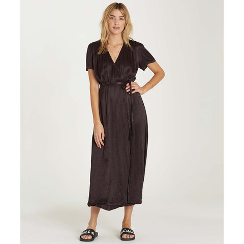 Billabong Women's Lusty Weekend Wrap Dress | Black