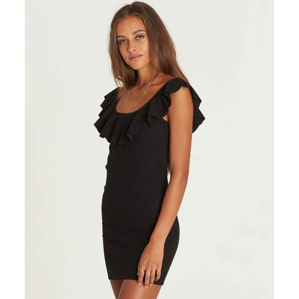 Billabong Women's No Frills Bodycon Mini Dress | Black