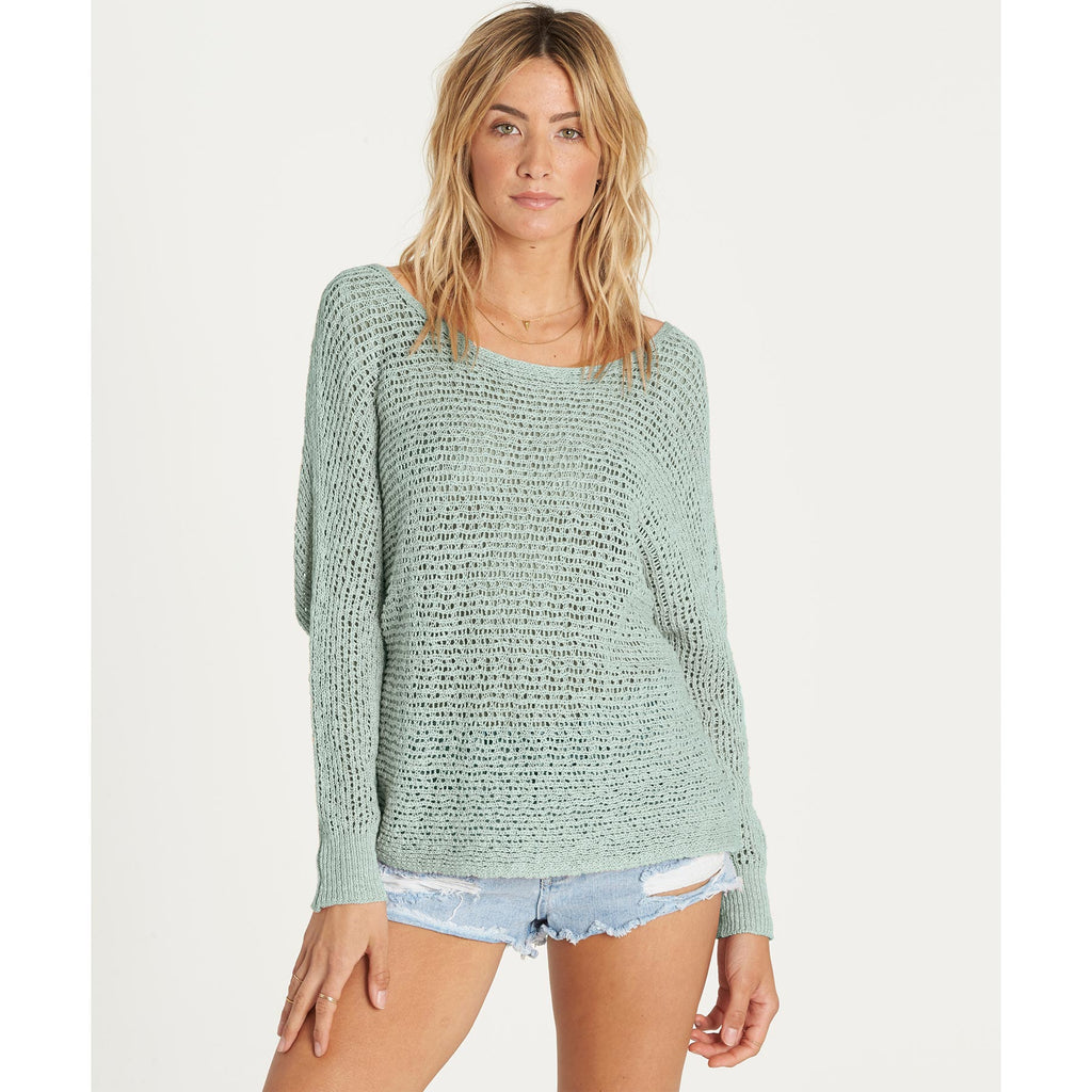 Copy of Billabong Women's Dance With Me Open knit Cropped Sweater | Clearwater