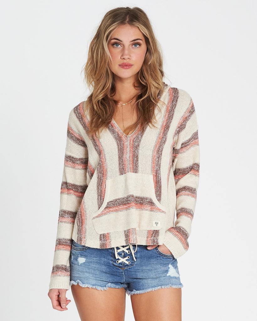 Billabong Women's Baja Beach Classic Hooded Poncho Sweater