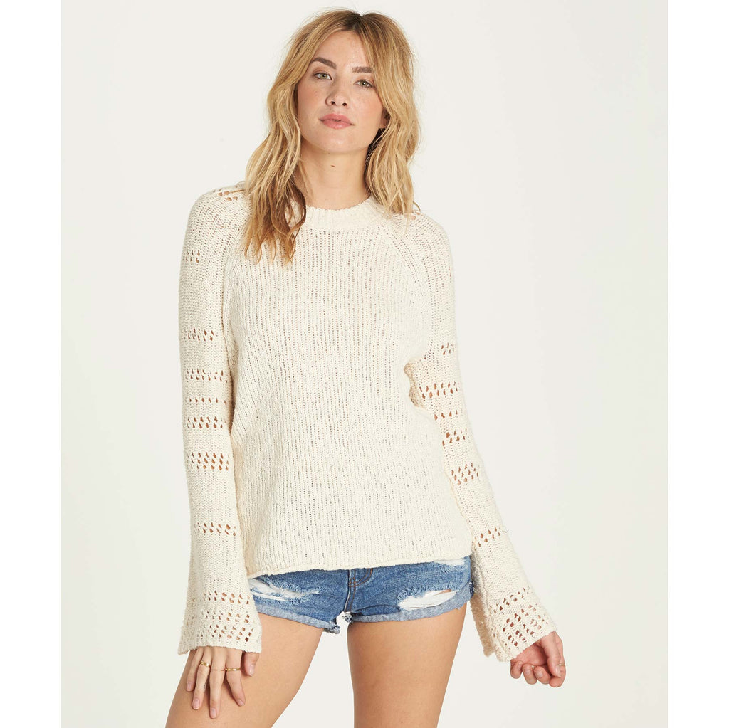 Billabong Women's Cozy Love Sweater | White Cap