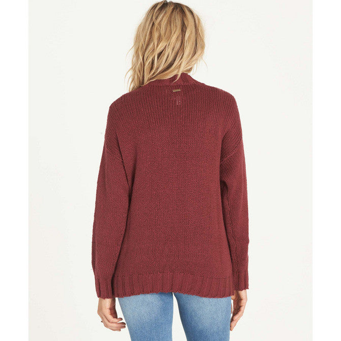Billabong Women's Luna Day Cardi Sweater | Scarlet