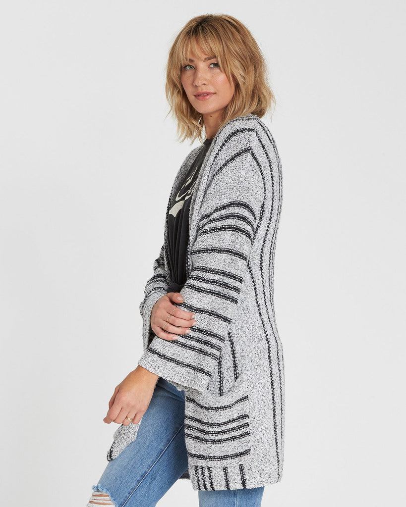 Billabong Women's Good TImes Cardigan Sweater | White Cap