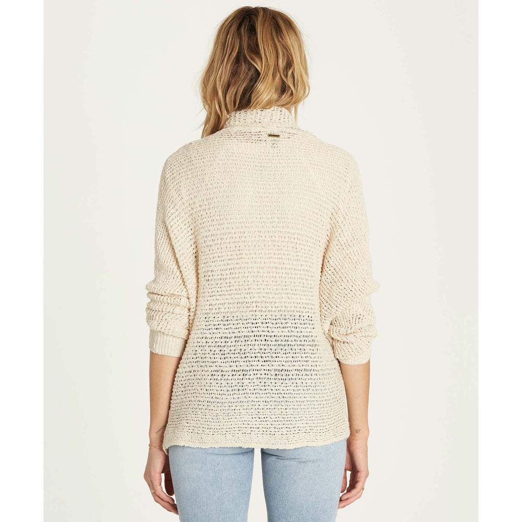 Billabong Women's Shake Down Dolman Sleeve Open Front Knit Cardigan | White Cap
