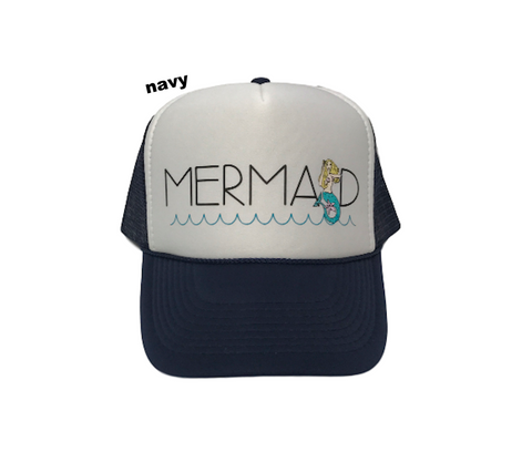 PCA MALIBU MERMAID Trucker Hat | Navy | Pink