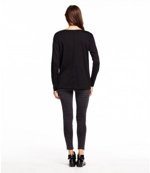Michael Stars Long Sleeve Crew Neck With Rib | Tawny | SALE