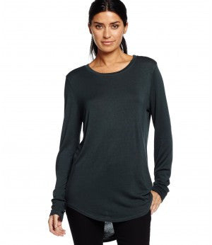 Michael Stars Long Sleeve Crew Neck Hi Low | Pinnacle Malibu