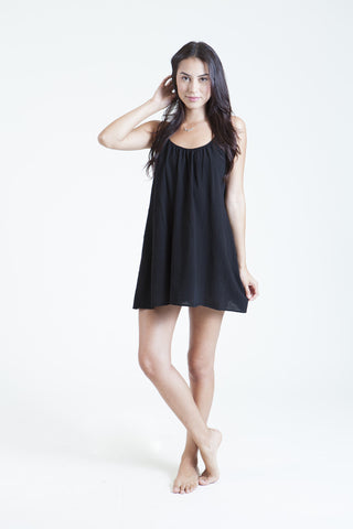 9 Seed St. Barts Mini Dress | Black Gauze