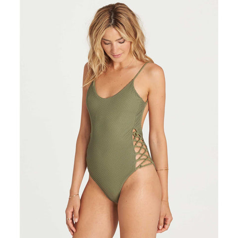 Billabong Meshin With You One Piece | Seagrass