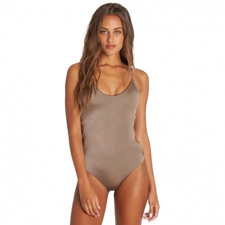Billabong Women's Sol Searcher One Piece Swimsuit | Black Pebble, Clay, Chili Pepper