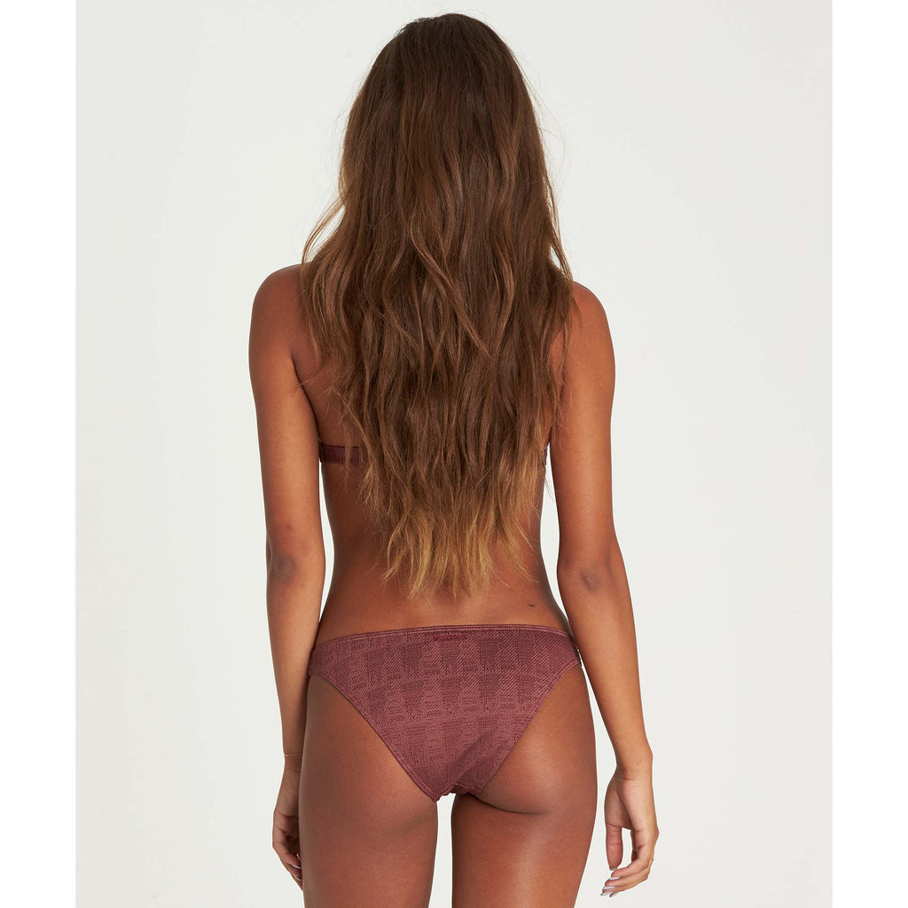 Billabong Women's Way To Love Tropic Bikini Bottom | Plum Berry