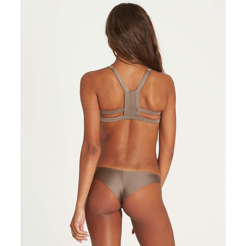 Billabong Women's Sol Searcher Tanga Bikini Bottoms | Clay, Blush