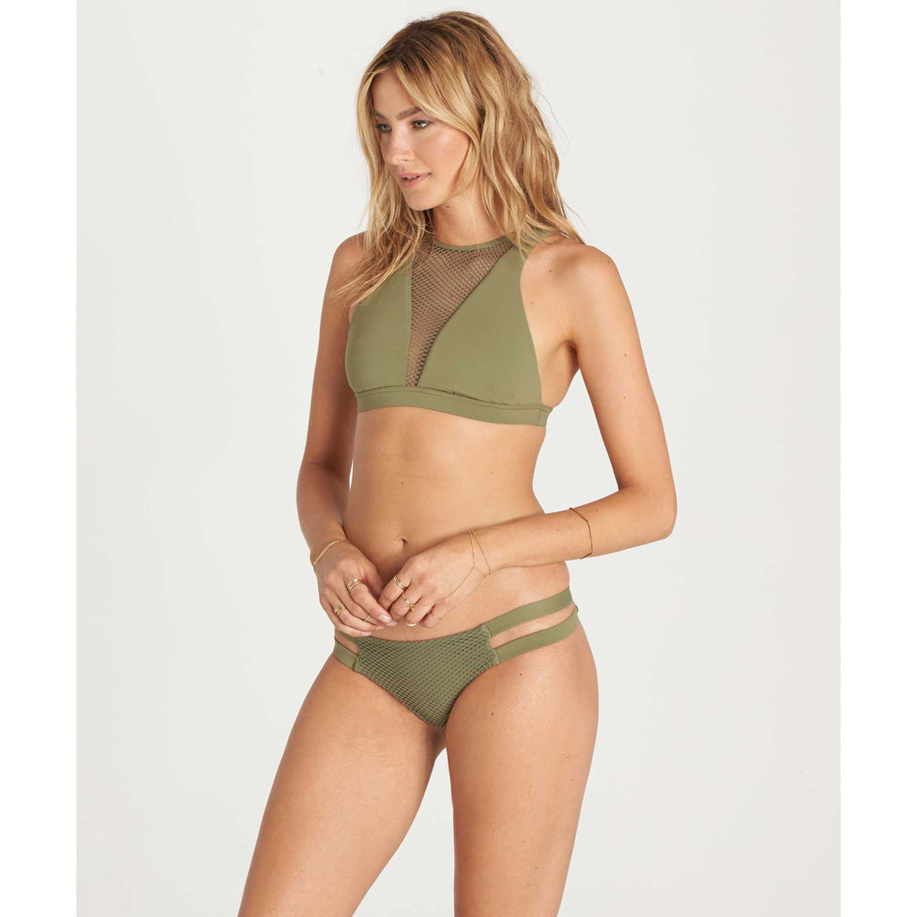 Billabong Women's Meshin With You High Neck Bikini Top | Seagrass | SALE