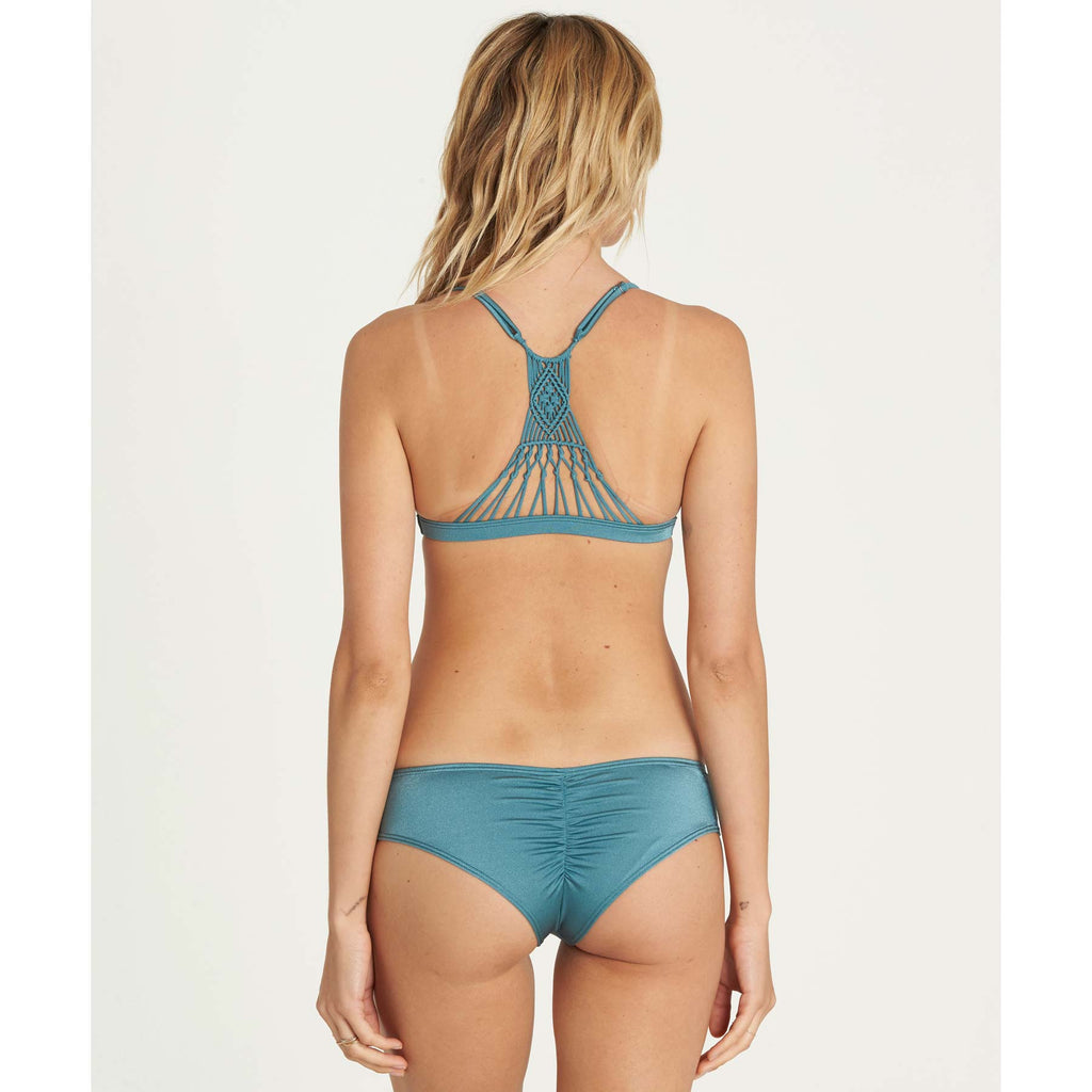 Billabong Women's It's About Triangle Macrame Bikini Top | Blue Wave | SALE