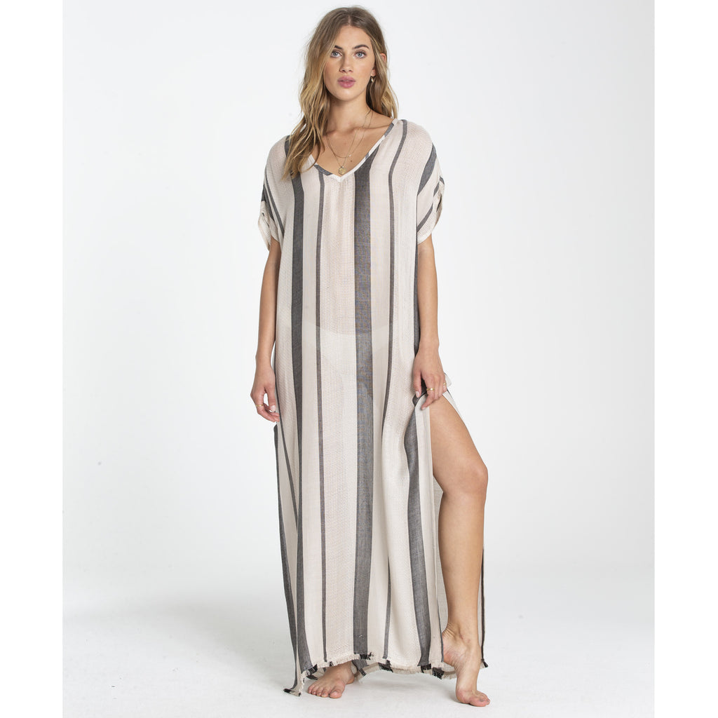 Billabong Women's Wink Once Maxi Cover Up| Black Pebble