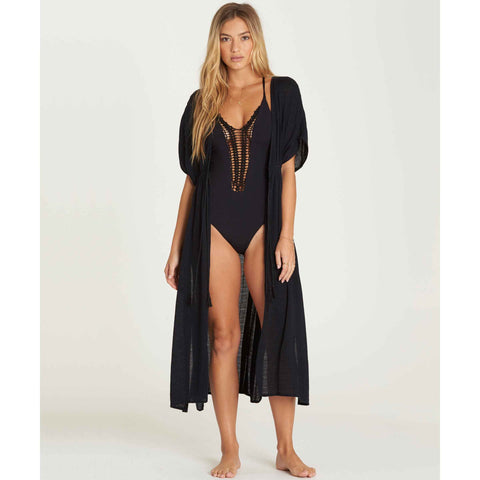 Billabong Women's Shape Shift Cover-up Robe | Black Pebble
