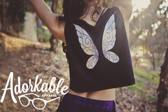Midnight Pixie Crop Tank