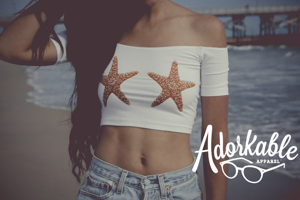 Sea Star Mermaid Crop Top
