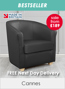 Cannes Faux Leather Tub Chairs
