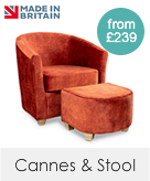 Cannes Tub Chair & Footstool Sets