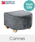 Cannes Fabric Footstool