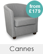 Cannes Fabric Tub Chairs