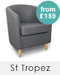 St Tropez Leather Tub Chairs