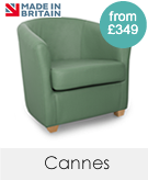 Cannes Genuine Leather Tub Chairs