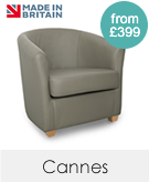 Cannes Genuine Leather Contract Tub Chairs