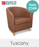 Tuscany Genuine Leather Contract Tub Chairs