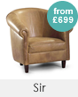 Sir Leather Tub Chairs