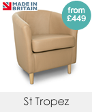 St Tropez Genuine Leather Tub Chairs