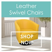 Leather Swivel Tub Chairs