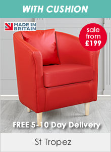 St Tropez Faux Leather Tub Chairs