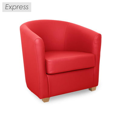 Cannes Leather Contract Tub Chair
