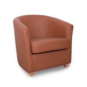Cannes Crib 5 Birch Genuine Leather Tub Chair