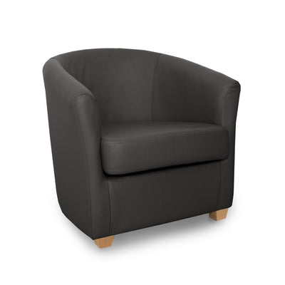 Cannes Genuine Leather Tub Chair