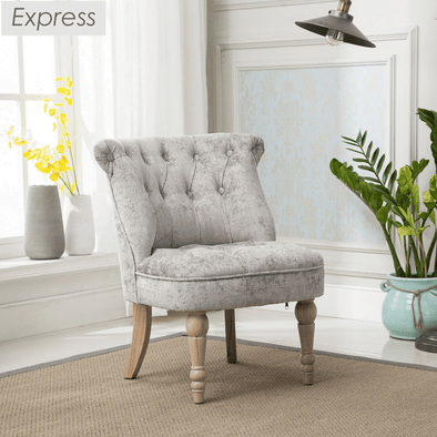 Express Coniston Plain Truffle Velvet Fabric Accent Chair