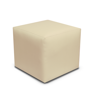 Special Offer - Paris Cream Faux Leather Cube Footstool