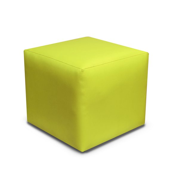Paris Faux Leather Cube Footstool - 3 Green Colours