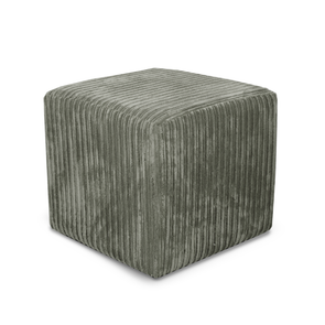 Paris Metropolis Plain Texture Fabric Cube Footstool