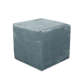 Paris Plush Velvet Fabric Cube Footstool