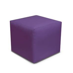 Paris Purple Faux Leather Cube Footstool