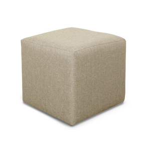 Paris Sierra Plain Linen Fabric Cube Footstool