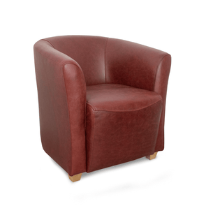 Hampshire Genuine Leather Tub Chair in Crib 5 Mustang