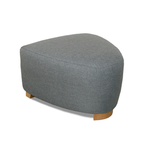 Seattle Fabric Footstool in Sierra Plain Linen