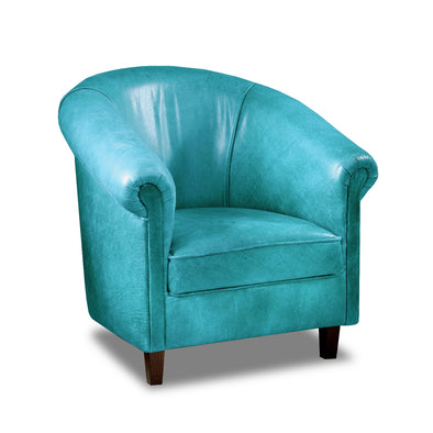 Sir Tub Chair Cerato Genuine Leather Tub Chair - 2 Blue Colours