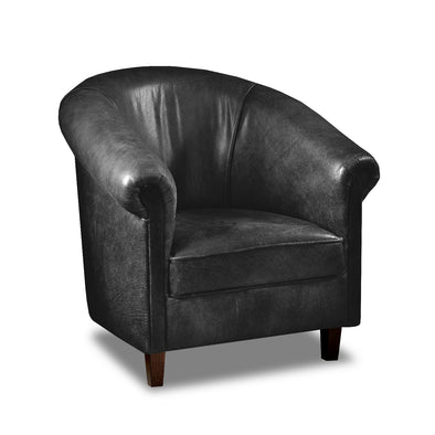 Sir Tub Chair Cerato Black Genuine Leather Tub Chair